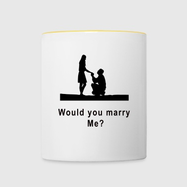marriage proposal - Contrasting Mug