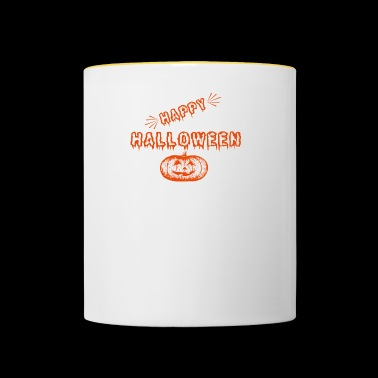 HAPPY HALLOWEEN AMERIKA UNDEAD KÜRBIS MONSTER - Tasse zweifarbig