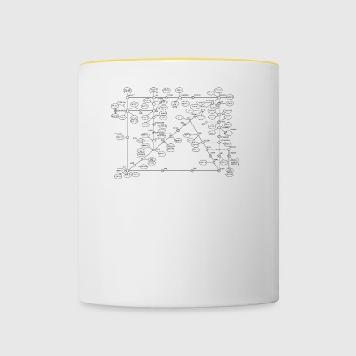 1974 Internet Map - Black - Contrasting Mug