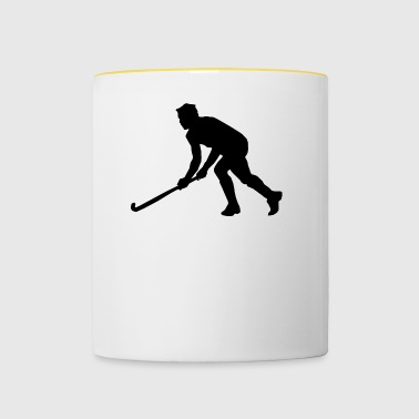 ice hockey ice skating skates puck hel - Contrasting Mug