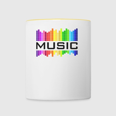 Music Music Equalizer Rainbow Dance Rock Concert - Contrasting Mug