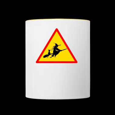 witches witch witches witch halloween - Contrasting Mug