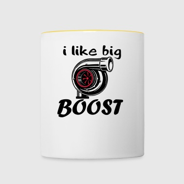 text i like Boost - Tasse zweifarbig