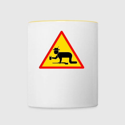 Danger sign Hunter drunk - Contrasting Mug