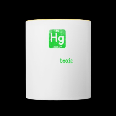 Funny Science Chemical Element Hg Toxic Hug Gift - Kubek dwukolorowy