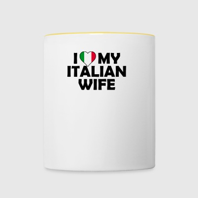 Italian wife / girlfriend gift shirt - Contrasting Mug