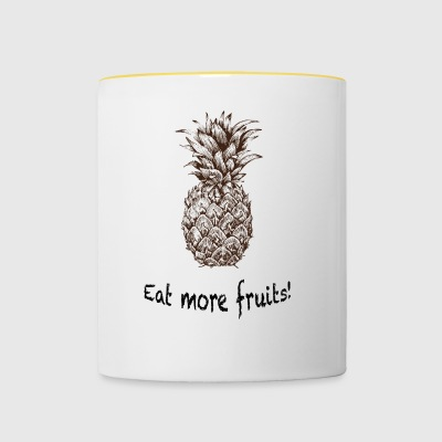 Mangez plus de fruits! - Tasse bicolore