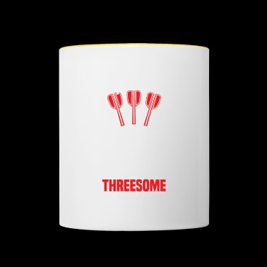 Happiness is a Tight Threesome - Darts Turnier - Tasse zweifarbig