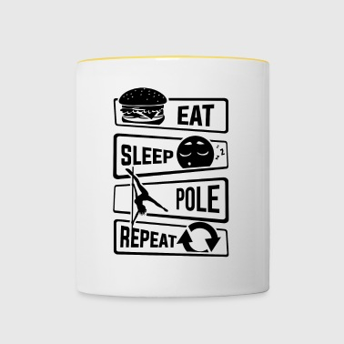Eat Sleep Pole Dance Repeat - Dance Pole Dance - Contrasting Mug