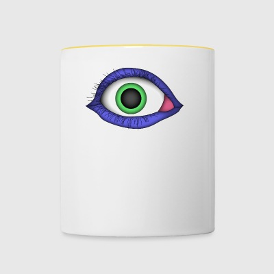 Monster Eye - Tasse zweifarbig