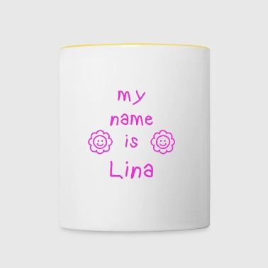 LINA MY NAME IS - Tasse bicolore