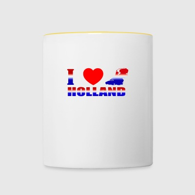 HOLLAND - Mok tweekleurig