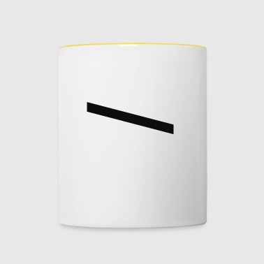 stripes black - Contrasting Mug