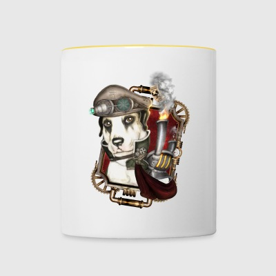Steampunk Dog # 1 - Tofarget kopp