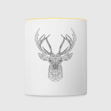 cerf trait - Tasse bicolore