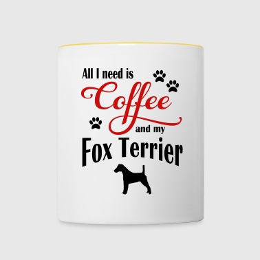 Fox Terrier Coffee - Kubek dwukolorowy