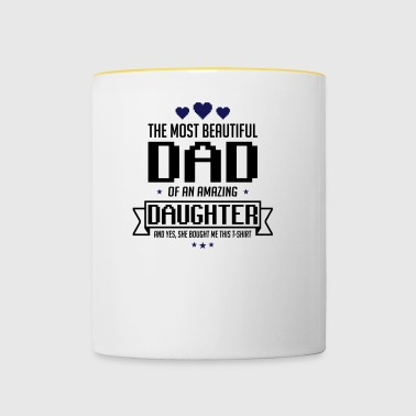 Beautiful Daughter's father's day - fathers day - Contrasting Mug