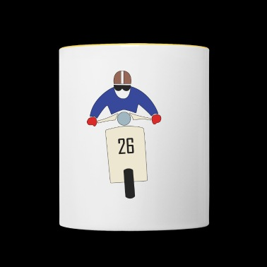 Scooter Racing Moto Race Rally Scooterist - Taza en dos colores