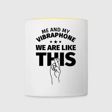 Vibraphone musical instrument gift - Contrasting Mug