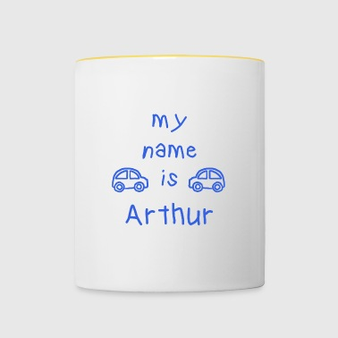 ARTHUR MY NAME IS - Tasse bicolore