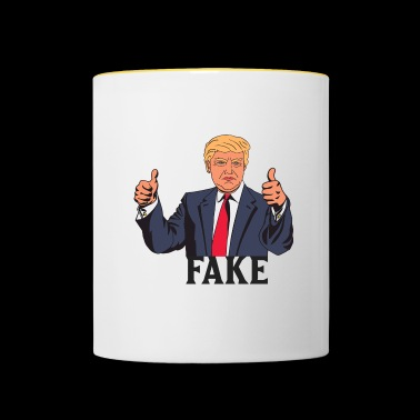 TRUMP FAKE - Mug contrasté