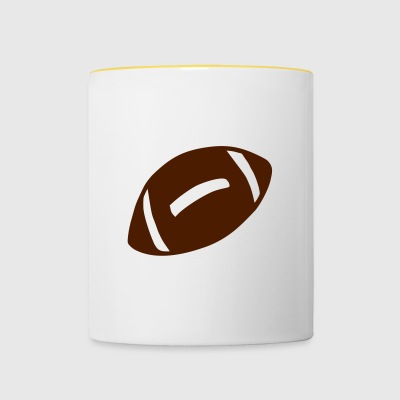 Football cadeau - Tasse bicolore