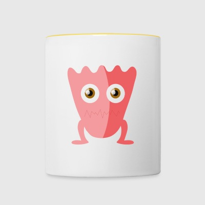 Pink Vintage Monster - Mok tweekleurig
