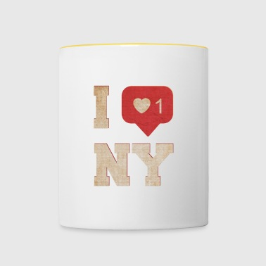 I Love New York - Kaksivärinen muki