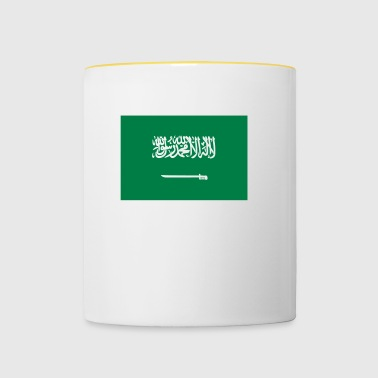 National Flag Of Saudi Arabia - Tvåfärgad mugg