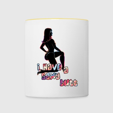 I have as sexy butt black - Contrasting Mug
