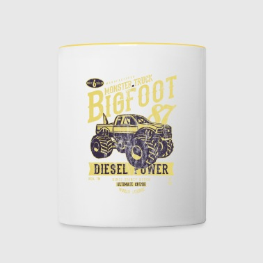 MONSTER TRUCK Big Foot - Vintage lastbil skjorta Design - Tvåfärgad mugg