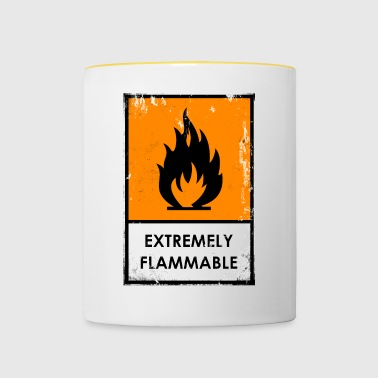 Chemical risk symbol. Flammable - Contrasting Mug