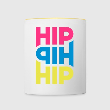 Hip Hip Hip - Personnalisable - Tasse bicolore