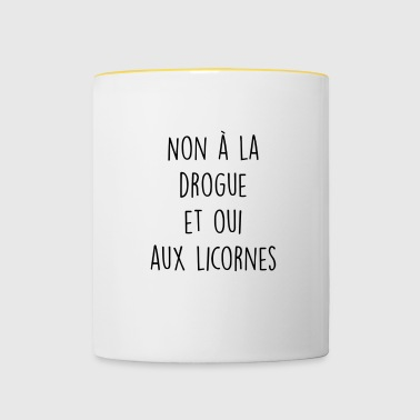 Citation drole - Mug contrasté