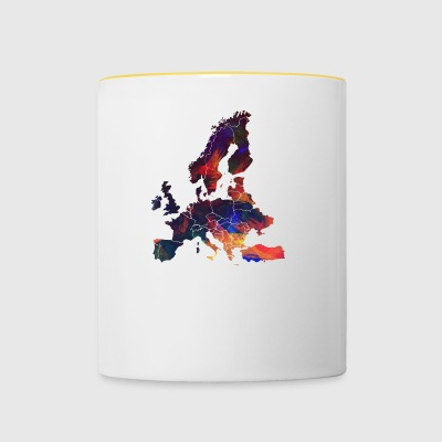 Europe - Tasse bicolore
