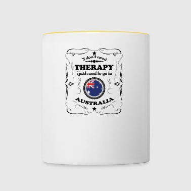 DON T NEED THERAPY GO AUSTRALIA - Contrasting Mug