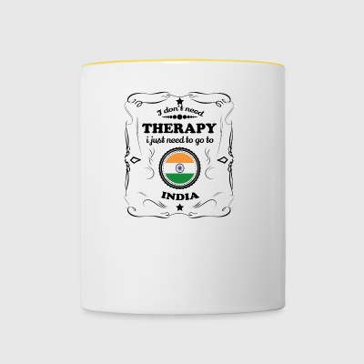DON T NEED THERAPIE GO INDIA - Tasse zweifarbig