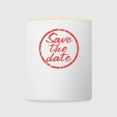 Stamp Save the Date - Mok tweekleurig