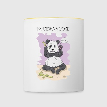 Panda Pandidha Moore lilac background - Contrasting Mug