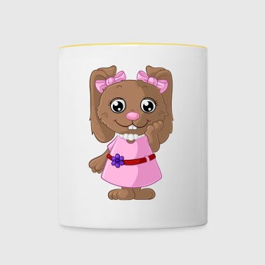 Cute cartoon bunny - Contrasting Mug
