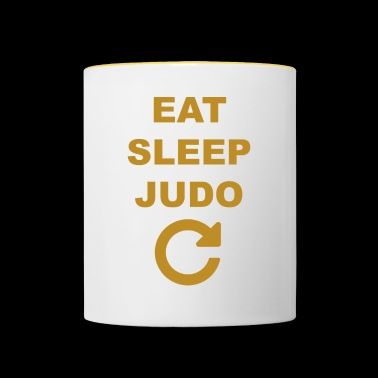 Eat sleep Judo repeat - Taza en dos colores