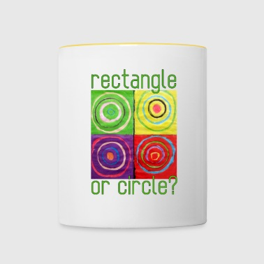 Rectangle ou cercle - Mug contrasté