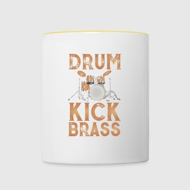 Drum design brown - Contrasting Mug