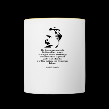Nietzsche: A man of government divides humanity - Contrasting Mug