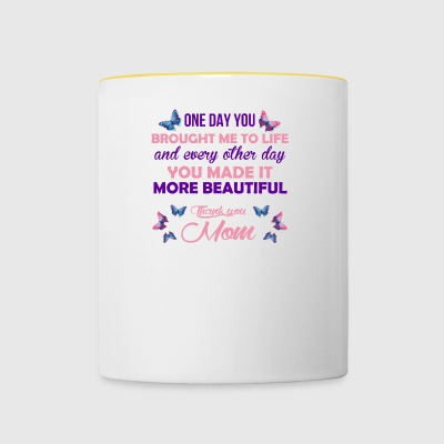 mothers' Day Mom Gift - Contrasting Mug