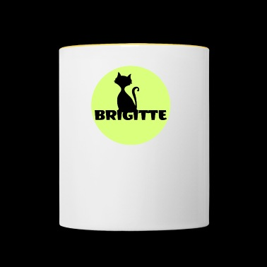 Brigitte First name name day gift - Contrasting Mug