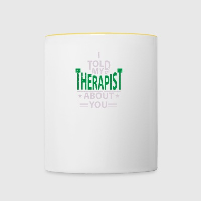 Therapy Psychologist Therapist Psychologist - Contrasting Mug