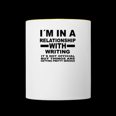 relationship with WRITING - Tasse zweifarbig