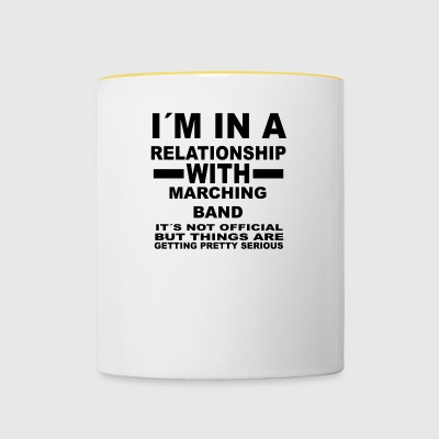 relationship with MARCHING BAND - Tasse zweifarbig