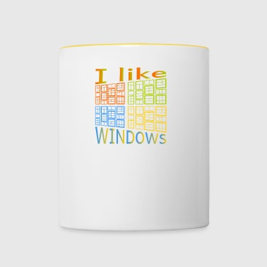 I like Windows - Tasse zweifarbig